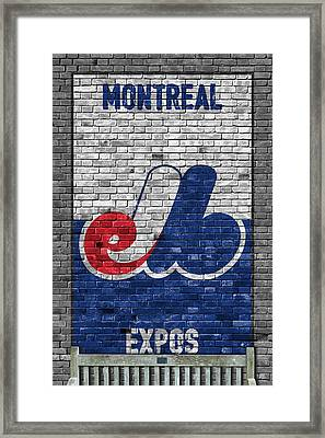 Montreal Expos Brick Wall Framed Print by Joe Hamilton