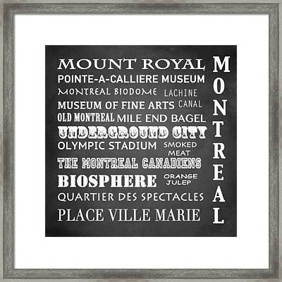 Montreal Famous Landmarks Framed Print by Patricia Lintner