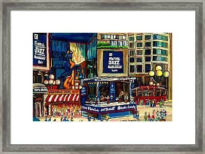 Montreal International Jazz Festival Framed Print by Carole Spandau