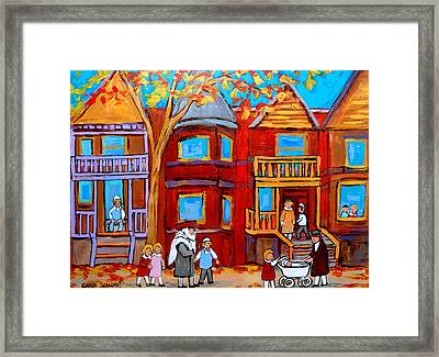 Montreal Memories Of Zaida And The Family Framed Print by Carole Spandau