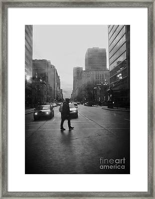 Montreal On A Rainy Day Framed Print by Reb Frost