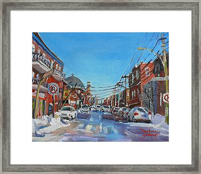 Montreal Scene Darlene Young Framed Print by Darlene Young