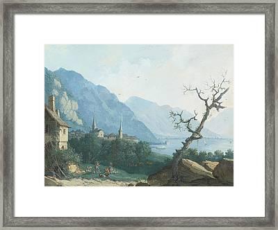 Montreux Von Nordwesten Framed Print by Louis Albert Guislain Bacler d'Albe