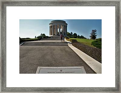 Framed Print featuring the photograph Montsec American Monument by Travel Pics
