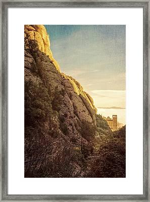 Montserrat Hike Framed Print by Joan Carroll
