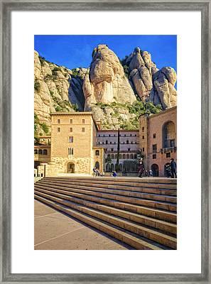 Montserrat Plaza Framed Print by Joan Carroll