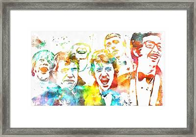 Monty Python Watercolor Tribute Framed Print by Dan Sproul