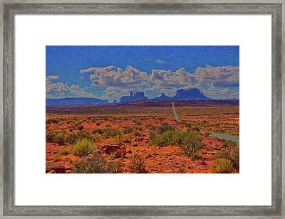 Monument Valley Impressions Framed Print by Greg Norrell