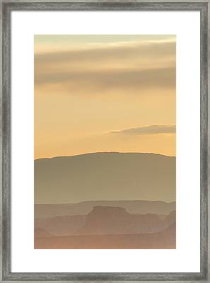 Monument Valley Layers Framed Print by Az Jackson