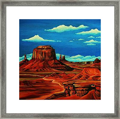 Monument Valley Framed Print by Lucy Deane