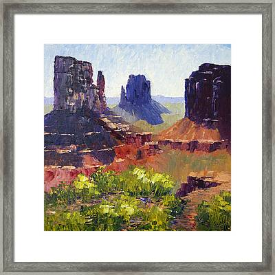 Monument Valley View Framed Print by Terry  Chacon