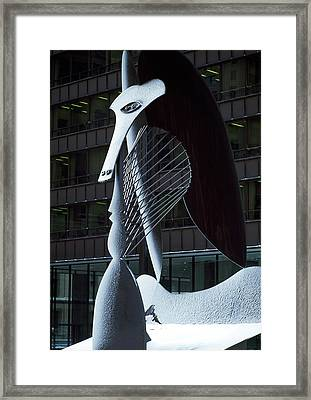 Monumental Sculpture In Front Framed Print by Panoramic Images