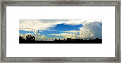Monuments In The Sky Framed Print by James Granberry