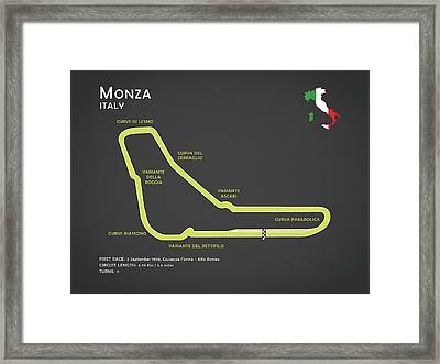 Monza Framed Print by Mark Rogan