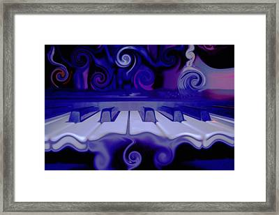 Moody Blues Framed Print by Linda Sannuti
