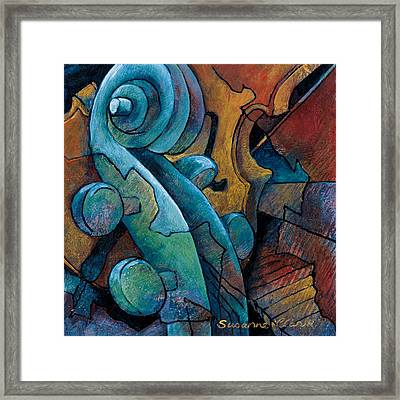 Moody Blues Framed Print by Susanne Clark