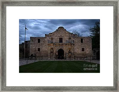 Moody Morning At The Alamo Framed Print by Jemmy Archer