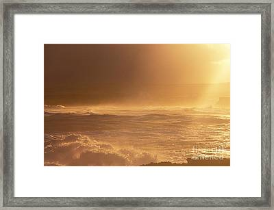 Moomomi Beach Sunset Framed Print by William Waterfall - Printscapes