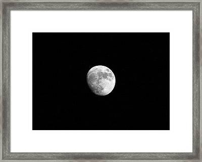 Moon - 27th March 2010 Framed Print by Richard Newstead