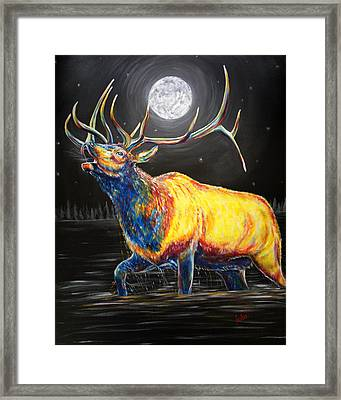 Moon Bugle Framed Print by Teshia Art