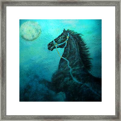 Moon Dance Framed Print by The Art With A Heart By Charlotte Phillips