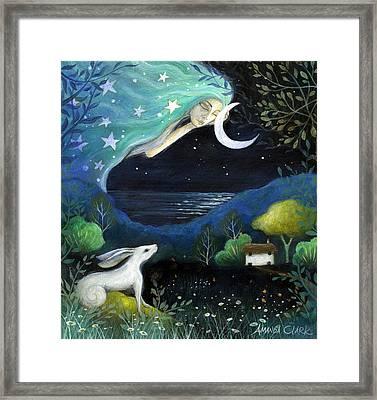 Moon Dream Framed Print by Amanda Clark