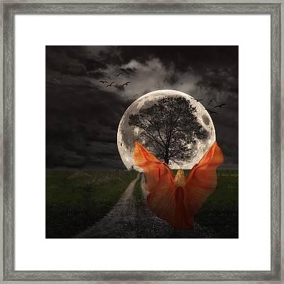 Moon Goddess Framed Print by Tom Mc Nemar