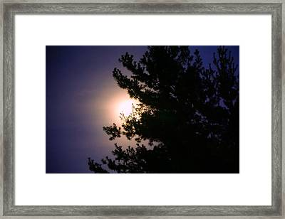 Moon Magical Glow Framed Print by Lilia D