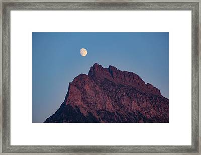 Moon Over Mountain Framed Print by Amy Sorvillo