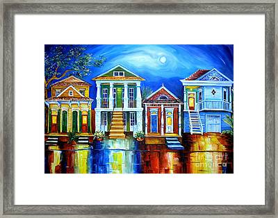 Moon Over New Orleans Framed Print by Diane Millsap