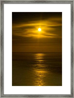 Moon Over Pacific Framed Print by Dale Stillman