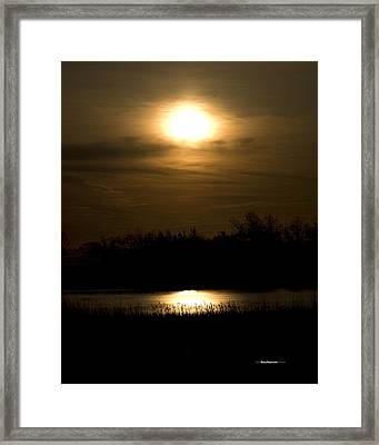 Moon Over The Pond Framed Print by Tom Buchanan