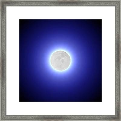 Moon Framed Print by Pet Serrano