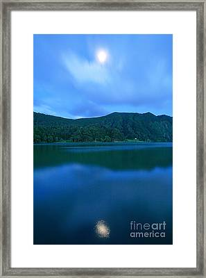 Moon Reflection Framed Print by Gaspar Avila