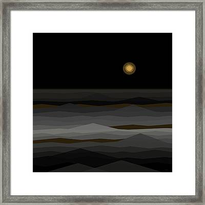 Moon Rise Abstract II Framed Print by Val Arie