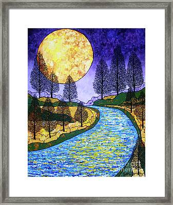 Moon River Framed Print by Tracy Levesque