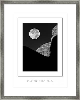 Moon Shadow Poster Framed Print by Mike Nellums