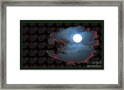 Moon Through Clouds  Photography With Graphic Flavour Created By Navinjoshi At Fineartamerica.co Framed Print by Navin Joshi