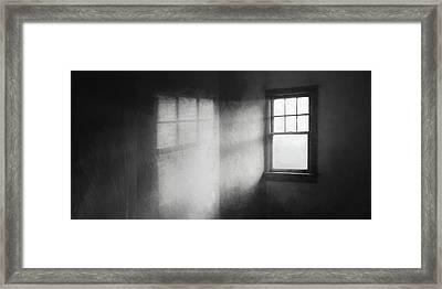 Moonbeams On The Attic Window Framed Print by Scott Norris