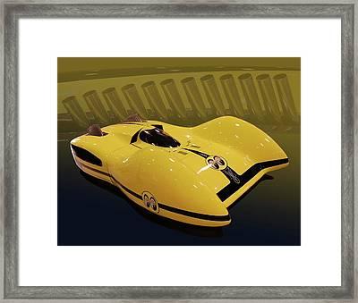 Mooneyes Streamliner Framed Print by Bill Dutting