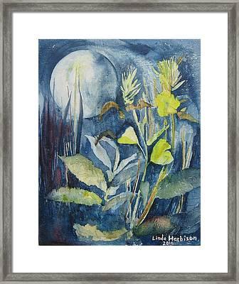 Moonflowers Framed Print by Linda Harbison