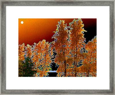 Moonglow Brilliance Framed Print by Will Borden