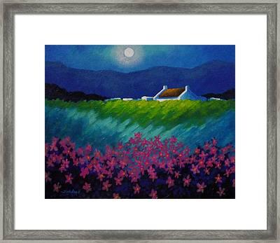 Moonlight County Wicklow Framed Print by John  Nolan