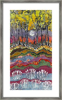 Moonlight Over Spring Framed Print by Carol  Law Conklin