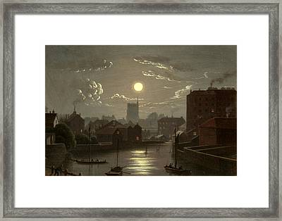 Moonlight Scene Framed Print by W Crambrook