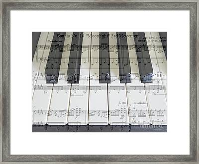 Moonlight Sonata 3rd Movement Framed Print by Hanza Turgul