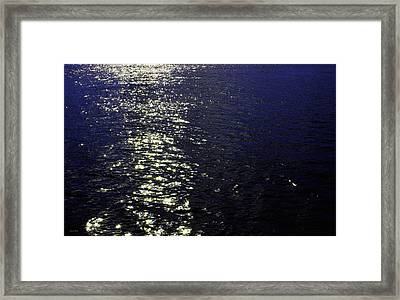 Moonlight Sparkles On The Sea Framed Print by Linda Woods