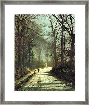 Moonlight Walk Framed Print by John Atkinson Grimshaw