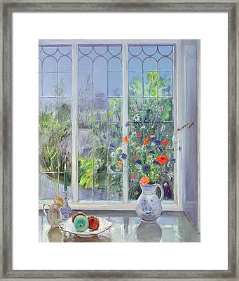 Moonlit Flowers Framed Print by Timothy Easton
