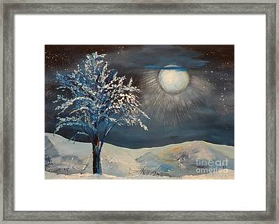 Moonlit Night Framed Print by Kat McClure